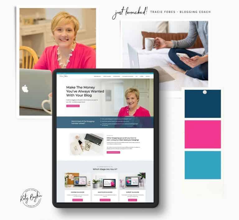 Amazing Blogging Coach Website Design For Tracie Fobes